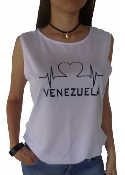 Franela Venezuela Blusa Dama Franelas Ropa Estampadas Moda