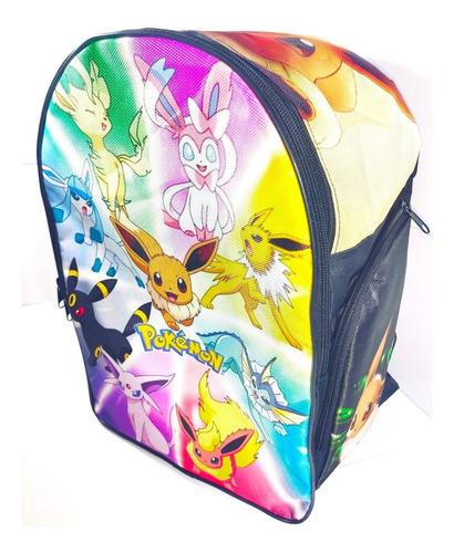Imagen 1 de 3 de Pokemon Mochila Backpack Eevee Evoluciones Flareon Umbreon