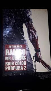 Rambo - Mr Brooks - Rios Color Purpura 3 Dvd Pack Nuevo