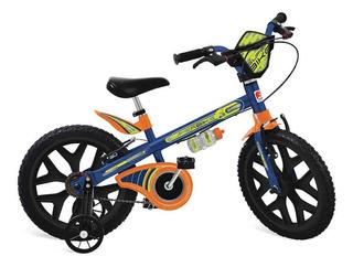 Bicicleta Infantil Criança Aro16 Superbike Azul Bandeirante