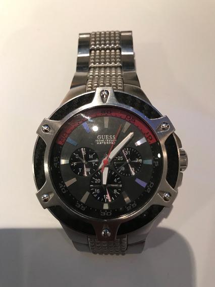 Relógio Guess Caixa E Pulseira Metálica