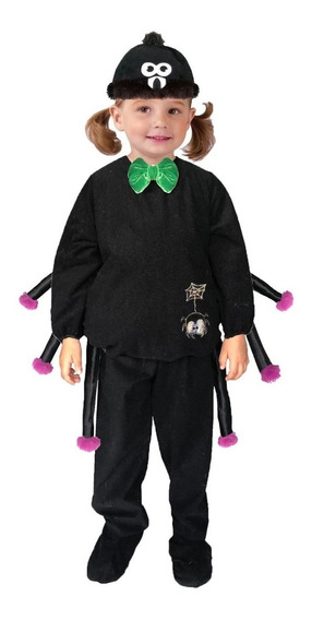 Disfraz Araña Niño Negra Halloween Bebé Monstruo Niña Tudi