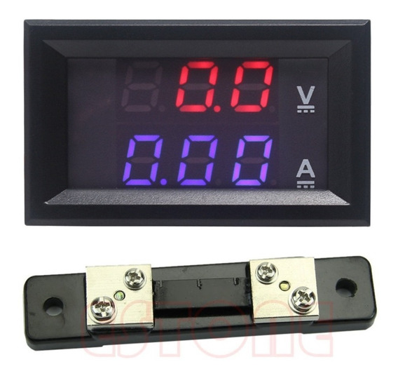 Voltímetro E Amperímetro Digital Vdc 100v X 50a - Cod.136