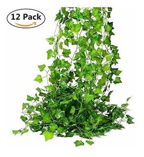 Pack 12 Tiras Planta Artificial Enrredadera 2m Decoración