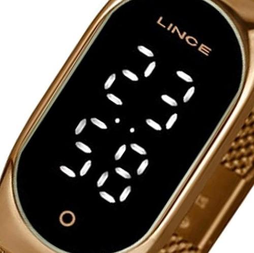 Imagem 1 de 6 de Relógio Feminino Lince Led Digital Ldr4642l Pxrx - Original