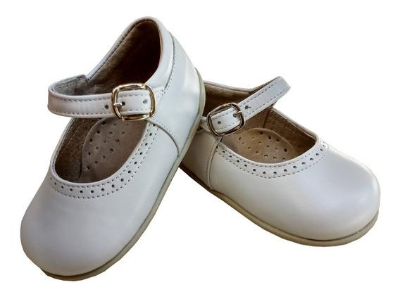 Zapato Guillermina Bebe Niña Nena 100% Cuero Fiesta/bautismo