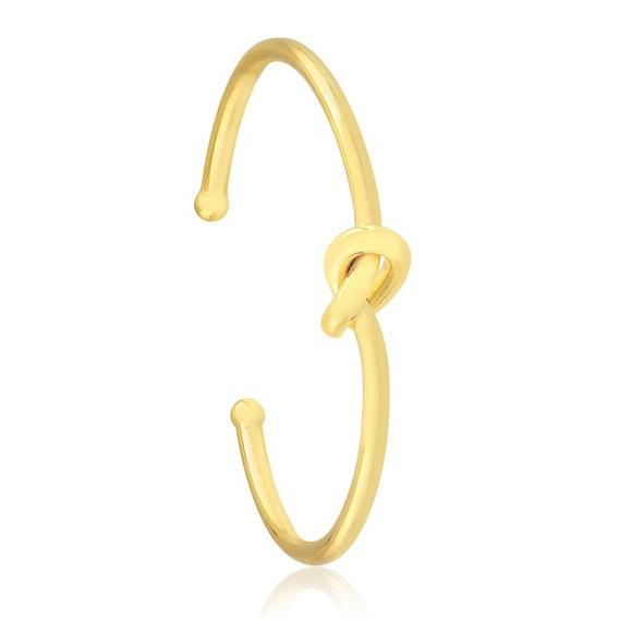 Bracelete Pulseira Semijoia Fio Com Detalhe De Nó Central