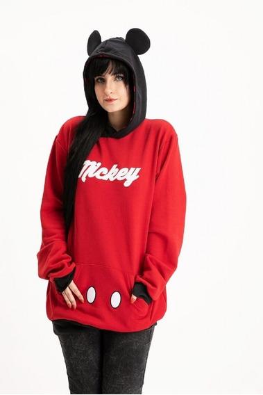 Blusa De Moletom Hoddie Mickey Mouse Orelhas