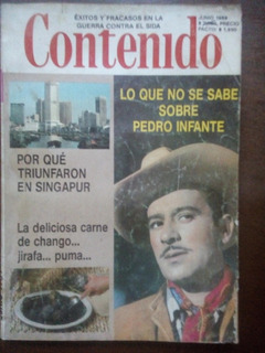 Revista Contenido 1989 Lo Que No Se Sabe Sobre Pedro Infante