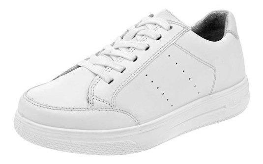 Flexi Sneaker Deportivo Escolar Blanco Piel Niño J78398 Udt