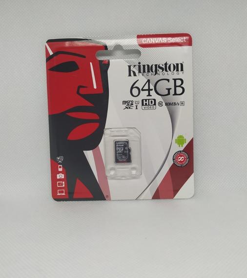 Cartão De Memória Micro Sd 64gb Classe 10 80mb/s
