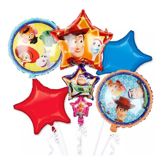 Globos Toy Story 4 Woody Forky Buzz Lightyear Bo Peep 5 Uni