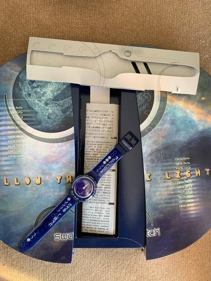 Relogio Swatch,sol E Lua, Dia E Noite,anos 90.caixa E Manual