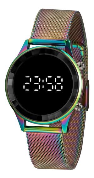 Relógio Lince Feminino Furtacor Em Mesh Ldm4649l Digital