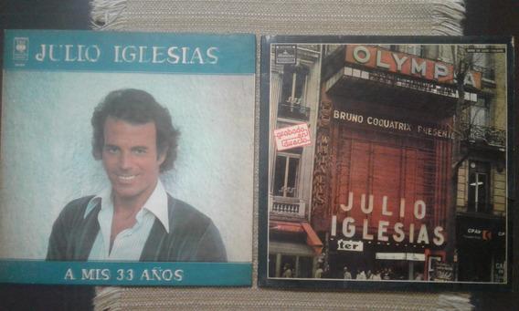 Lote De 7 Discos Originales Julio Iglesias Y Aqui Cine Vol.3