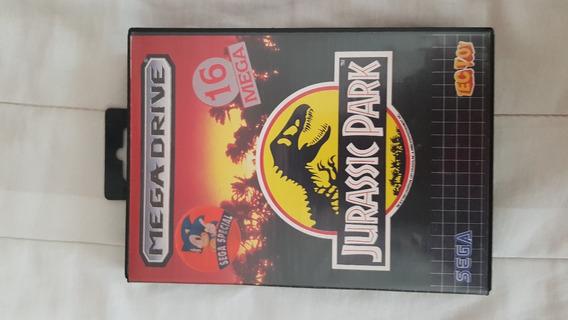 Jogo Mega Drive Sega Jurassic Park Completo Tec Toy