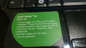 Notebook Dell Ispirion I 1545-321