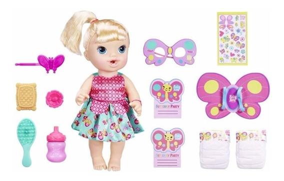 Boneca Baby Alive Festa Da Borboletinha Loira - B8279 Hasbro