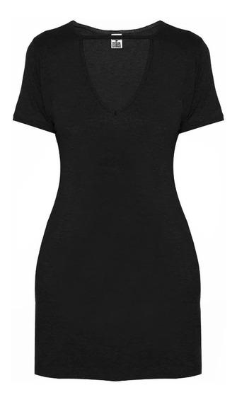 Kit 3 Camiseta Vestido Feminina Decote Choker Tumblr