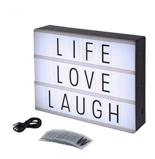 Tablero Led Con Letras Caja Luminosa Light Box Cine Ckl-1