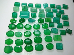 Conjunto Esmeralda Lapidada, Quartzo 380cts, 56 Pedras