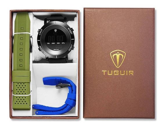 Relógio Masculino Preto Digital Tuguir Esportivo Original