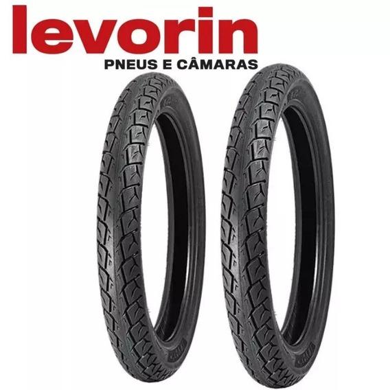 Par Pneu Levorin Matrix Cg/titan/ybr/rd 2.75-18 + 90/90-18