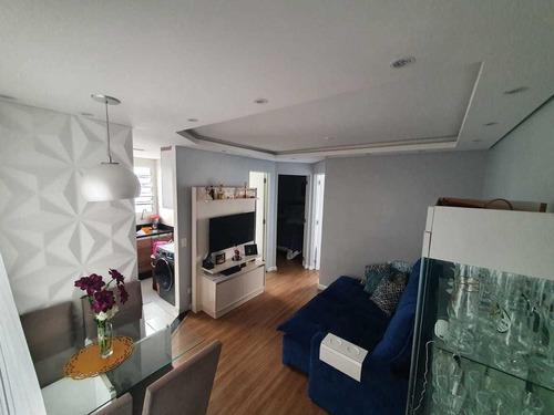 Imagem 1 de 10 de Apartamento Mobiliado 2 Dormitorios 44m² Nova Petrópolis Sbc
