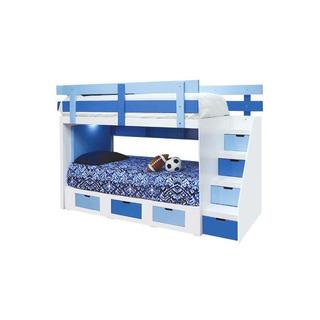 Litera Blue - Azul Y Blanco Këssa Muebles