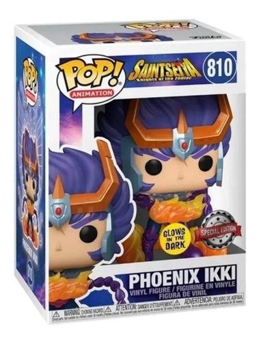 Imagen 1 de 2 de Phoenix Ikki Fénix Glow Saint Seiya Funko Pop
