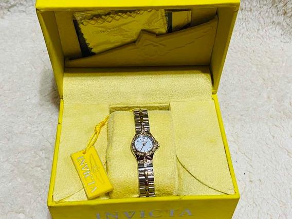 Relógio Feminino Invicta De Aço Inoxidável Banhado A Ouro 18