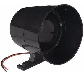 Sirene Para Alarme Residencial Comercial Glk Gk-10 Preta