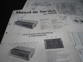 Esquema E Serviço Radio Panasonic Rc 4895m Rc4895 M