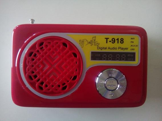 Rádio Portátil El-t918 Radio Fm/ Micro Sd/usb
