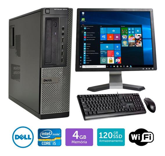 Pc Barato Dell Optiplex 9010int I5 4gb Ssd120 Mon17q Brinde