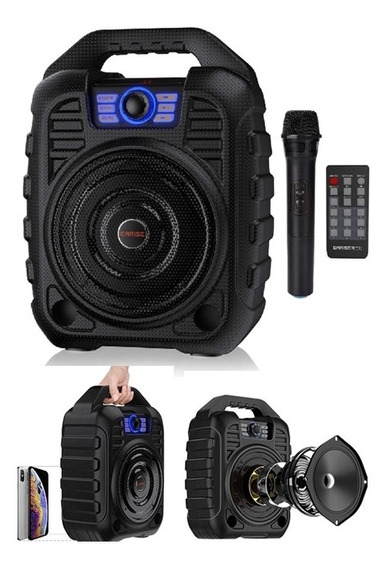 Caixa De Som Bluetooth Amplificada Gravador Karaoke Megafone