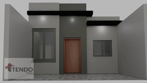 Imagem 1 de 15 de Casa Com 3 Dormitórios À Venda, 70 M² Por R$ 395.000,00 - Jardim Belo Horizonte - Indaiatuba/sp - Ca0555