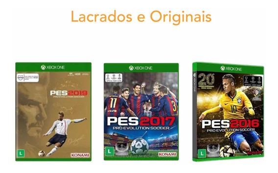 Kit Pes Xbox One 16/17/19 Jogos Lacrado Originais Pro Soccer