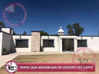 Casa En Renta Amueblada En Crucero Del Llano