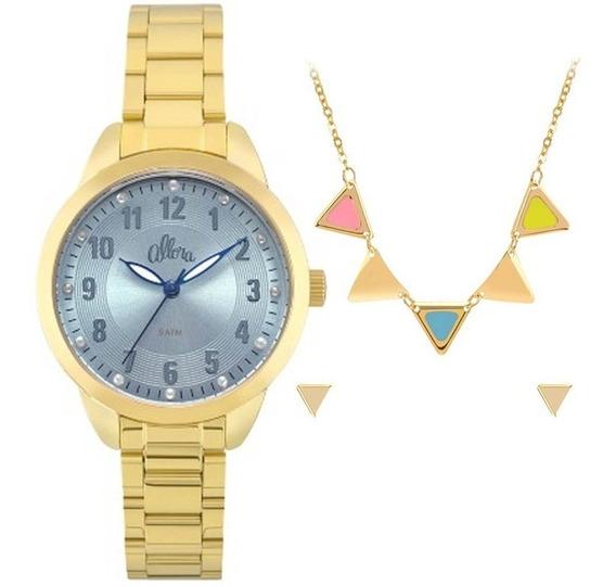 Relógio Allora Feminino Kit Al2035fku/k4a, C/ Garantia E Nf