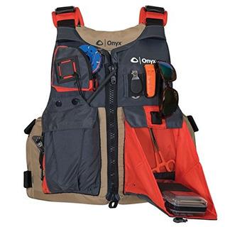 Chaleco Salvavidas De Pesca Y Kayak Color Cuero De Onix