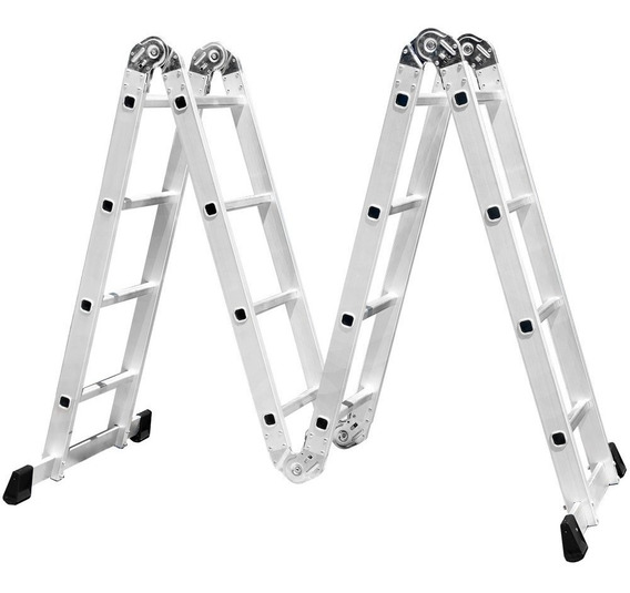 Escada Multifuncional 4x4 Com 16 Degraus Em Alumínio-fortgpr