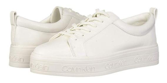 Zapatos Sneakers Calvin Klein Dama Piel! Original! Talla 26!