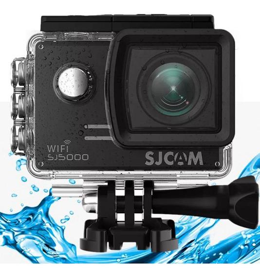Câmera Capacete Moto Paintball Prova Água Sjcam Preta Oferta