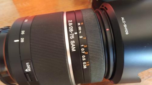 Kit De Lente Sony Alpha A-mout  ,28-75 E 16-50mm Oportunida!