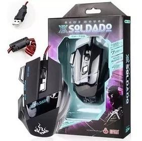 Mouse Gamer X-soldado Usb Led 7 Botões 6d 3000dpi Gm-700
