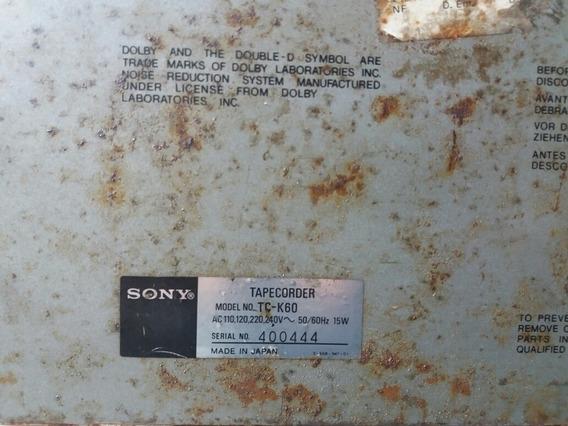 Tape Deck Sony Tc-k60 (sucata) Apenas Para Retirada De Peças