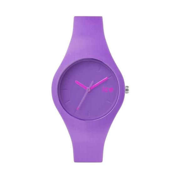 Reloj Análogo Marca Ice Modelo: 001235 Color Morado Para Dam