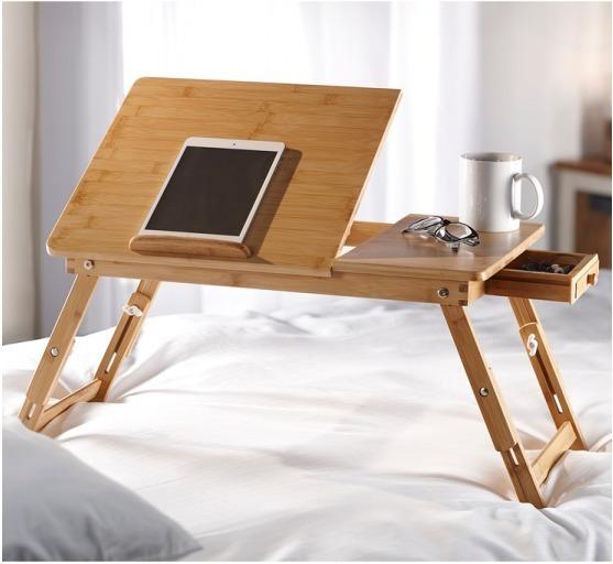 Bandeja Bambu Plegable Desayuno Notebook Hoteleria Lujo