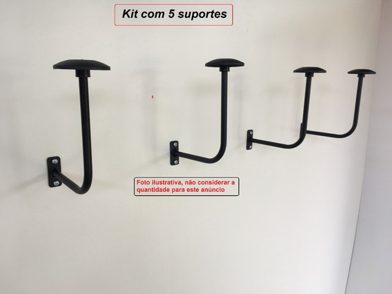 Suporte De Parede P/ Capacetes Kit C/ 5 Pçs ( Exclusivo )